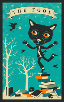 TAROT CARD CAT: THE FOOL von Jazzberry  Blue