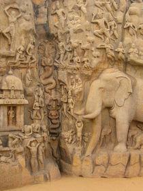 Rock relief descent of the Ganga in Mahabalipuram von Marita Zacharias