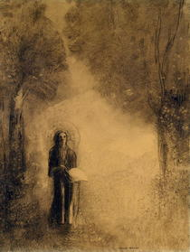 The Walker, Study for `The walking Buddha`) by Odilon Redon