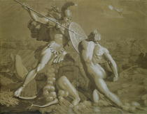 Fight of Achilles with the River Scamander  by Philipp Otto Runge