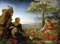 Rest on the Flight into Egypt von Philipp Otto Runge