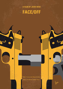 No576 My Face Off minimal movie poster von chungkong