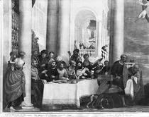 The Meal at the House of Simon the Pharisee, detail of the left  by Paolo Veronese