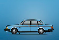 Volvo Brick 244 240 Sedan Brick Blue by monkeycrisisonmars