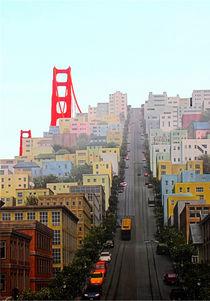 San Francisco und Golden Gate Brigde von Marita Zacharias