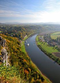 Blick auf die Elbe von Ute Bauduin