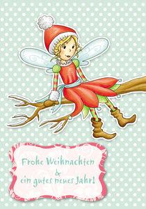 Weihnachtskarte WInterfee Rosalie by Gosia Kollek