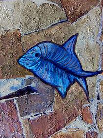 Kugelfisch-blau-stein