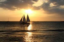 Goldener Sonnenuntergang über Key West, Florida by Marita Zacharias