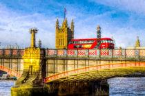 Lambeth Bridge and Westminster Art by David Pyatt