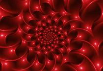 Glossy Red Spiral Fractal von Kitty Bitty
