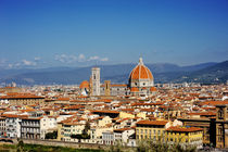 Florence and Saint Mary of the Flower panoramic view, Tuscany, Italy von tanialerro
