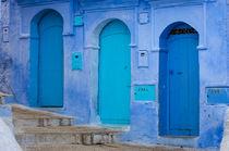 Three Blue Doors by Rolf Lange