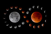 Mondfinsternis-Verlauf mit Blutmond - lunar eclipse with blood moon by monarch