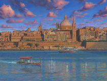 Evening in Valletta Harbour, Malta by Richard Harpum