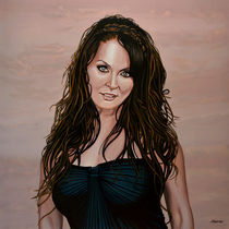 Sarah Brightman painting by Paul Meijering