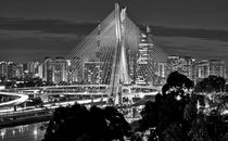 Sao Paulo, Brazil Iconic Cable-Stayed Bridge (Ponte Octavio Frias de Oliveira) by Carlos Alkmin