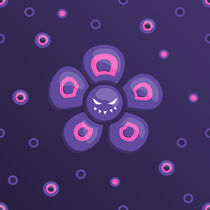 Grinning purple evil flower by Boriana Giormova