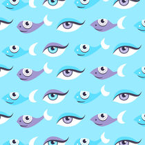 Fish and eyes pattern by Boriana Giormova