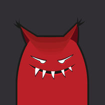 Red-evil-monster-art-print