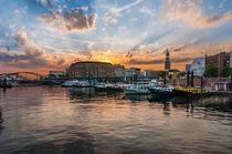 Hamburg Binnenhafen mit Michel I by elbvue