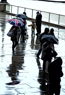 London in the rain von Andrew Michael