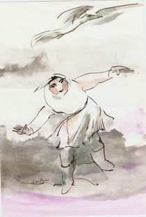 fly with bird by Ioana  Candea