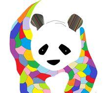 Patchwork Panda von eloiseart