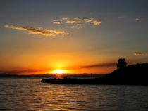 Fantastischer Sonnenuntergang am Titikakasee von Marita Zacharias