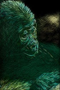 Baby Gorilla Portrait by Andrew Michael