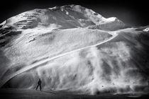 Berge und Skipiste im Pitztal Österreich von Matthias Hauser