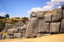 Ruine der Inka-Festung Sacsayhuaman in Peru - UNESCO World Heritage von Marita Zacharias