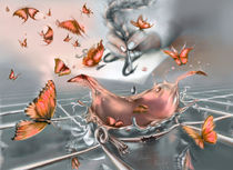 Orange butterfly explosion by zvezdochka