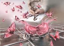 Pink butterfly explosion by zvezdochka
