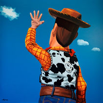 Woody of Toy Story painting von Paul Meijering
