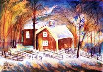 Schwedische Winterlandschaft von Irina Usova
