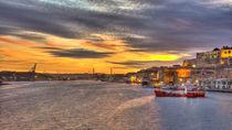 Valletta-harbour-sunset