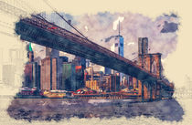 New York Brooklyn Bridge by Tanya  Hall