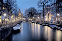 Twilight, Amsterdam, Water by Wolfgang Pfensig