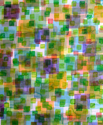 Large Squares covered by Small Green Squares von Heidi  Capitaine