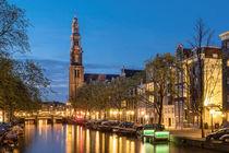 Amsterdam. Westerkerk an der Prinsengracht. by Thomas Seethaler