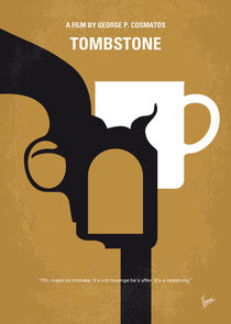 No596 My Tombstone minimal movie poster von chungkong
