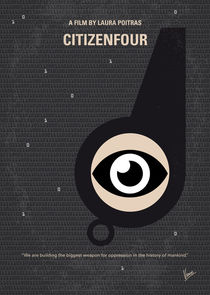 No598 My Citizenfour minimal movie poster by chungkong