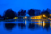 Eaton Park Lake at Dusk, Norwich, England by Vincent J. Newman