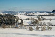 Sauerlandblick im Winter von Heidi Bücker