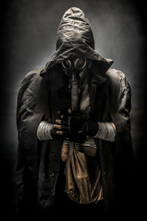 gas mask man in the hood by Ales Munt
