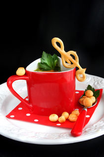 That's Music to My Taste | Soup with Choux Pastry Clef by lizcollet