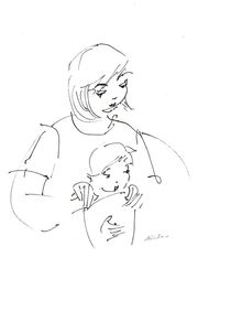 mother and child  by Ioana  Candea