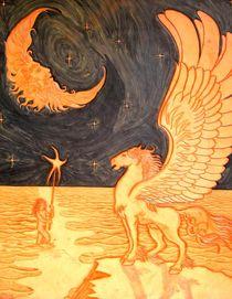 'PEGASUS MOON AND MORNING STAR' by Ron Moses
