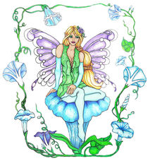 Morning Glory Fairy by Sandra Gale